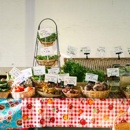 Food market stall